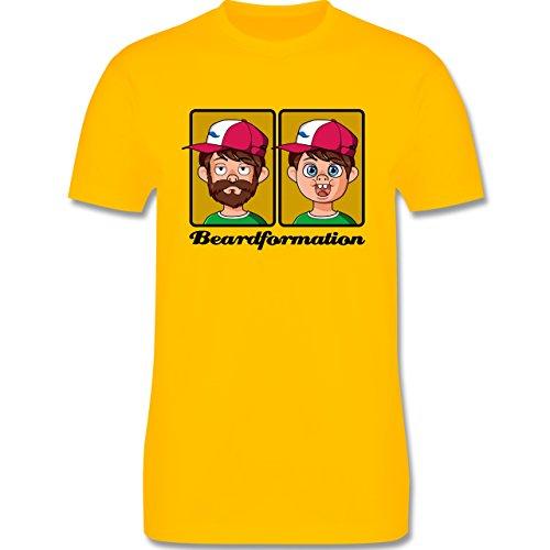 Statement Shirts - Beardformation - Herren Premium T-Shirt Gelb
