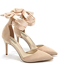 cc989d324 Amazon.es  Zapatos Color Nude - Zapatos de tacón   Zapatos para ...