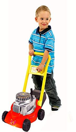Molteni Kinder Rasenmäher 45 x 27 x 52 cm, TÜV geprüft, mit Fangkorb und Geräuschfunktion beim Mähen, Kunststoff, Izzy Sport