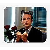 Tapis de Souris Photo de Célèbrité Emmanuel Macron Kawaii Humour Politicien