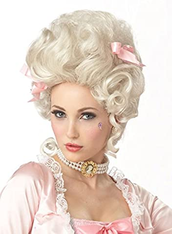 Deluxe Marie Antoinette Curls Wig French White Baroque Style Ladies