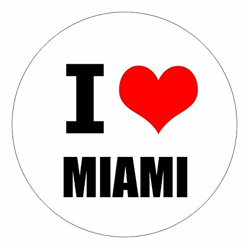 I love Miami Florida in 2 Größen erhältlich Aufkleber mehrfarbig Sticker Decal