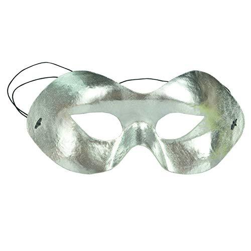 XAOBNIU Halloween Party Ball Maske Erwachsene Kind halbe Gesichtsmaske (Farbe : Silber)