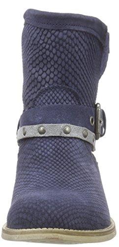 Marco Tozzi 25329 Damen Biker Boots Blau (Navy Antic Comb 820)