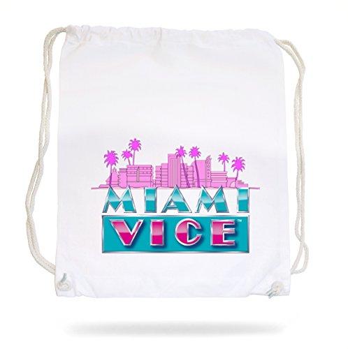 Certified Freak Miami Vice Skyline Gymsack White