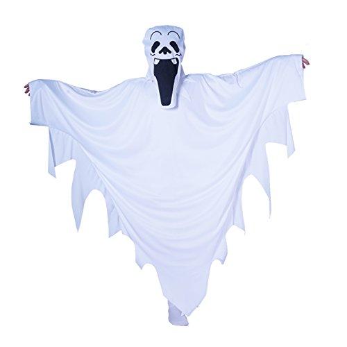 (Sea Hare Kind weiß Halloween Cape Ghost Kostüm (S :4-6 Jahre))