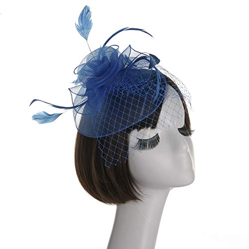 FIYOMET Fascinator Base für Frauen Feather Ladies Headwear Sommer Party Temperament Haarschmuck (Mutter Teenager-tochter Halloween-kostüme Und)
