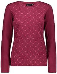 Hemden Bekleidung CMP Bluse  Woman Shirt pink atmungsaktiv elastisch schnelltrocknend kariert