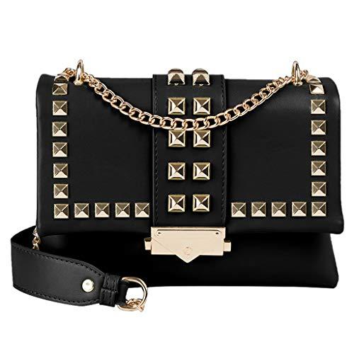 Cooljun Stilvolle Umhängetaschen Umhängetasche Damenmode Allzweck-Niet Kleine quadratische Tasche Einzelne Umhängetasche