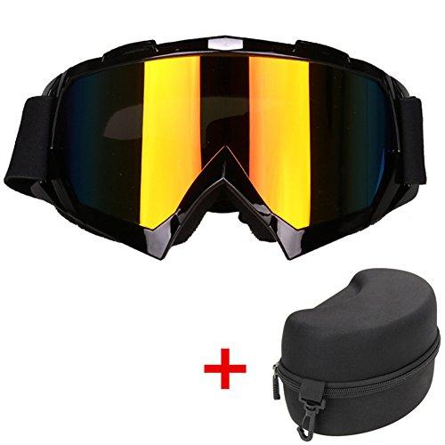 SWAMPLAND Motorradbrillen mit UV-Schutz Anti-Fog Wintersport-Brille Skibrillen Snowboardbrille Radsportbrille Dirtbike Off-Road Schutzbrille,Schwarz