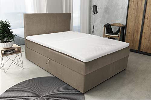 Best For Home Boxspringbett S Deluxe mit Bettkasten und Luxus 7-Zonen Taschenfederkernmatratze oder Bonellfederkernmatratze in Härtegrad H2, H3, H4 viele