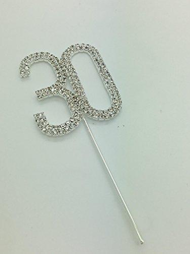 rhinestone-birthday-cake-topper-number-pick-30th-diamante-gems-decoration-birthday-anniversary-diama
