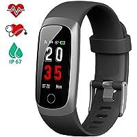 iPosible Montre Connectée Podomètre Bracelet Connecté Femme Homme Montre Tension Artérielle Smartwatch Sport Cardiofréquencemètre étanche IP67 Fitness Tracker pour Smartphone Samsung Huawei iPhone