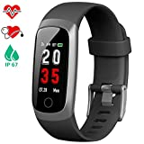 iposible Fitness Tracker, Heart Rate Activity Tracker Blood Pressure Pedometer Smart Watch Waterproof