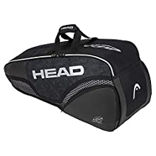 Head Unisex – Adulti Djokovic 6R Combi Borsa Tennis Black/White, 77 x 35 x 29 cm