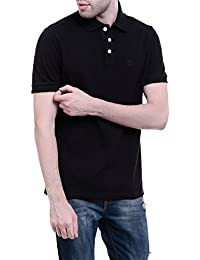 CHKOKKO Cotton Polo Neck Half Sleeves Plain T Shirt For Men