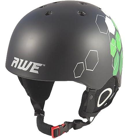 AWE® Duel™ Ski/Snowboard/BMX/Freeride In-Mould Helmet CE EN 1077 Standards, TUV Tested