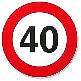 DankeDir! 40. Geburtstag Geschenk, Kunststoff Schild (20 x 20 cm), Geschenkidee Geburtstagsgeschenk runder Geburtstag 40er - Geburtstagsfeier, Kleine/süße Überraschung Das Geburtstagskind