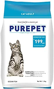 Purepet Adult(+1 year) Dry Cat Food, Ocean Fish, 1.2kg