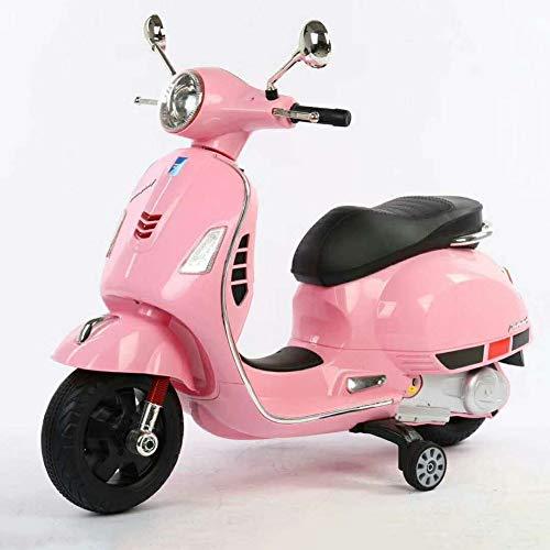 CHTOYS Ride-On Toy Trike Motorrad - Batteriebetriebenes elektrisches Dreirad für Kleinkinder mit eingebautem Sound, Beleuchtung - Elektrisches Spielzeugauto,Pink