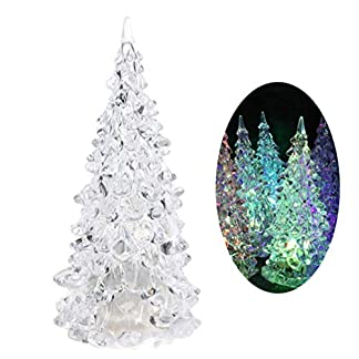 Amosfun mesa led led árbol de navidad iluminar árbol de navidad luz de la noche para navidad vacaciones fiesta mesa centro de mesa regalos