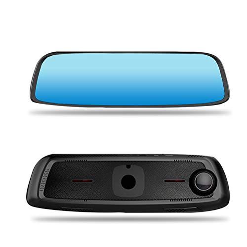 GLxlsbz 4 G Coche DVR 8 Pulgadas Mando a Distancia táctil Monitor Espejo retrovisor cámara con Android WiFi de Doble Lente 1080P dashcam en Tiempo Real GPS Navigator Tracker Historia, Black