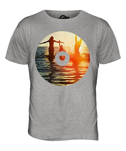 CandyMix Sommer Wellen Herren T Shirt Grau Meliert