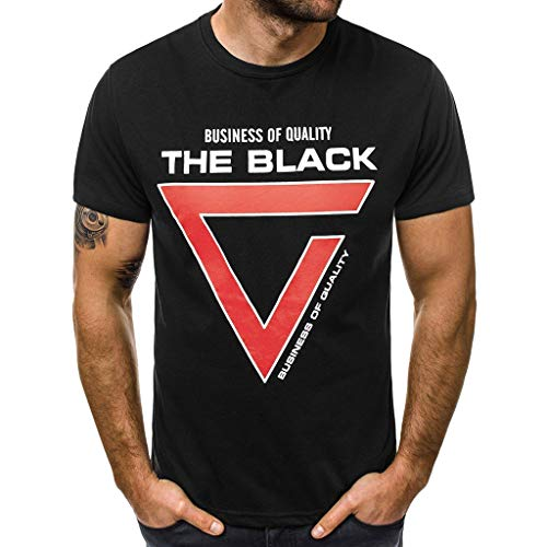 Clearance Saingace Herren T- Shirt O-Neck Print Kurzarmshirt Top Shirt Sleeve Basic Diverse Farbsets auswählbar