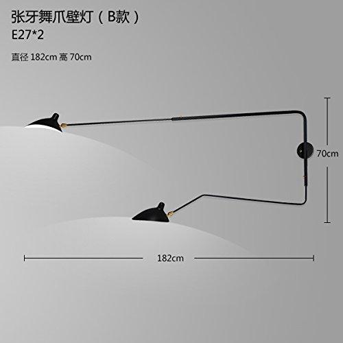 Semplice GaoHX creativa e moderna lampada da parete (con braccio