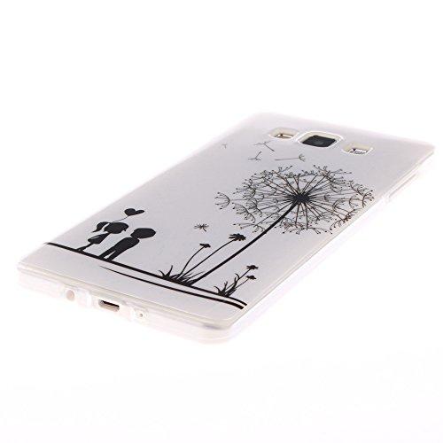 Samsung Galaxy A5 2015 hülle MCHSHOP Ultra Slim Skin Gel TPU hülle weiche Silicone Silikon Schutzhülle Case für Samsung Galaxy A5 - 1 Kostenlose Stylus (Löwenzahn sich verlieben (Dandelions Fall in Lo Löwenzahn sich verlieben (Dandelions Fall in Love)