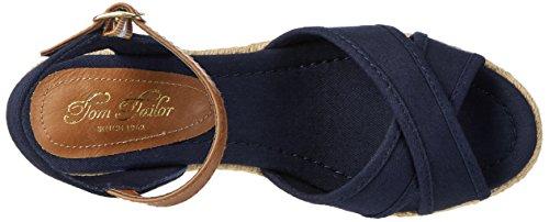 Tom Tailor 2799006, Sandales  Bout ouvert femme Bleu Marine