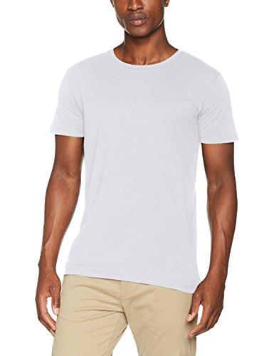 ESPRIT Herren 997EE2K819 T-Shirt, Weiß (White 100), L (T-shirt 70 Weiße)
