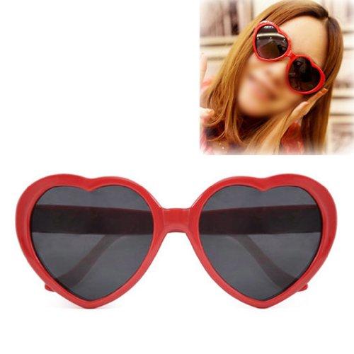 Gleader Fashion Nette Retro Liebe-Herz-Form Lolita Sonnenbrille Abendkleid-Partei HOT - (Basketball Sonnenbrillen)