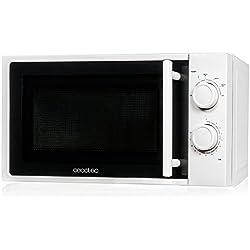 Cecotec Micro-ondes White. Capacité de 20 L, 700 W de Puissance, 6 Niveaux de Fonctionnement, Minuterie 30 minutes, Mode Décongeler , Finition en Blanc.