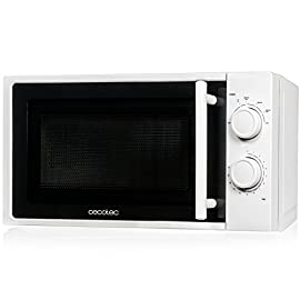 Cecotec Microwave White. Capacità 20 l, potenza 700 W, funzionamento a 6 livelli, timer 30 min, modalità scongelamento, finitura bianca