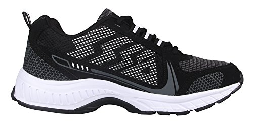 iLoveSIA-Delocrd Mixte adulte Chaussures de Multisports outdoor,FR Pointure 35-46 Nouveau design Noir&Noir