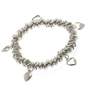 Buckley Five Heart Charm Stretch Bracelet
