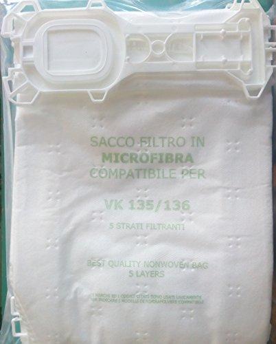FL135unidades 6piezas Bolsas de microfibra Aspiradora de repuesto compatible con color marca color...