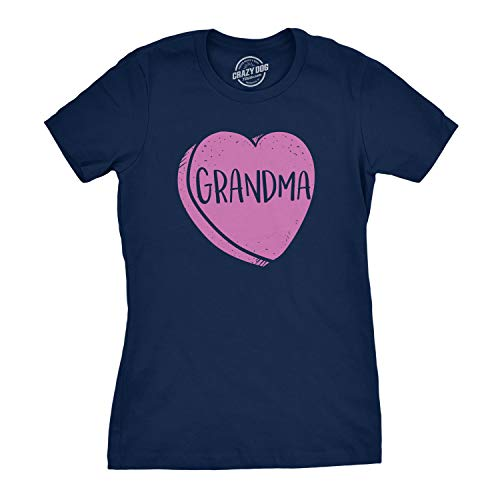 00589404aa37d Crazy Dog Tshirts - Womens Grandmas Candy Heart Funny Family Relationship  Valentines Day T Shirt (