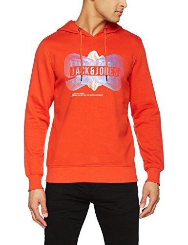 JACK & JONES Herren Sweatshirt Jcopaul Sweat Mix Pack Orange (Poinciana Fit:Reg)