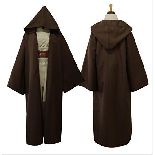 RL Fantasie Erwachsene Männliche Star Wars Anakin Skywalker Replik Jedi Cosplay Masculino Männer Jedi Ritter Kostüm Für Männer Plus Größe 3XL,Brown-XXXL