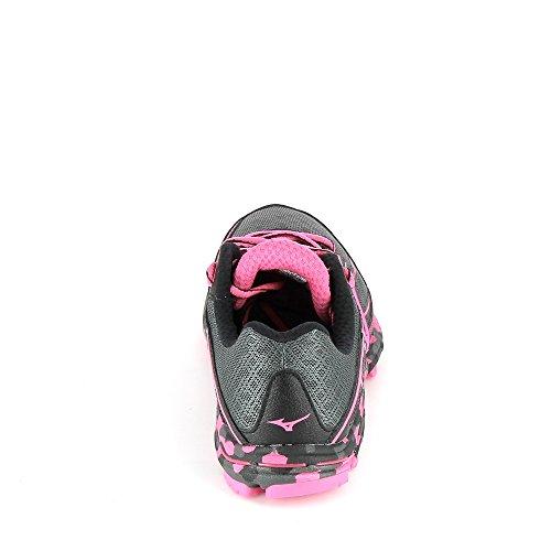 Esecuzione Wave Glo Scura Nero Femme Mizuno Rosa De Chaussures Un'ombra w Hayate YwxnBdHqR