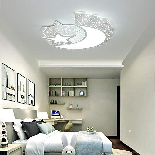LED deckenleuchten eisen acryl weiß mond und stern LED lampe LED licht LED deckenleuchte deckenleuchte für das foyer schlafzimmer white_dia_65cm_cool_white -