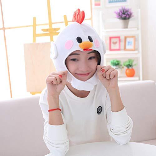 Amosfun peluche chick caps cappello coprire la maschera maschera di pollo cappuccio copricapo halloween novità party dress up cosplay