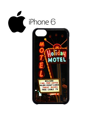 Holiday Motel Hotel America Retro Swag Mobile Phone Case Back Cover Hülle Weiß Schwarz for iPhone 6 White Schwarz