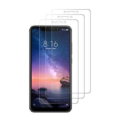 Peloo 3-6 PRO Xiaomi redmi Notas Protection Film, película protetora em vidro temperado para Xiaomi redmi Notas 6 PRO [9H Dureza, 3D toque Compatível]