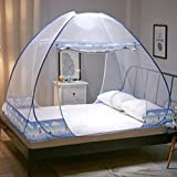 FimQB Nouveau Filet moustiquaire moustiquaire pour lit Double Tente de Voyage pour Camping moustiquaire auvent Pas Cher Prix Tente Double pour moustiquaire Adulte, Bleu océan, lit de 1,2 m (4 Pieds)