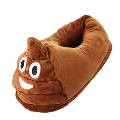 Kigurumi Pantofole Peluche Emoji Unisex Adulto Scarpe Cosplay Halloween Costume Attrezzatura- LATH.PIN Divertente