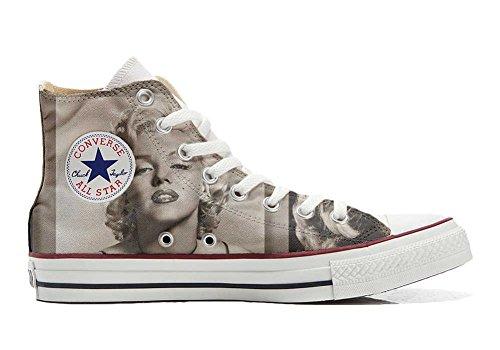 e All Star, personalisierte Schuhe (Handwerk Produkt) Marilyn Monroe - Size EU 34 ()