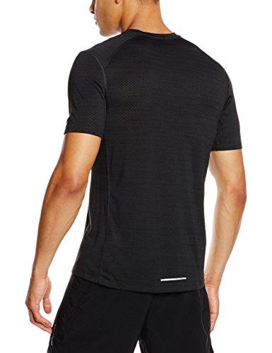 Nike Dri-Fit Cool Miler Ss, Maglietta da Corsa Uomo Nero (Black Pine/Nero)